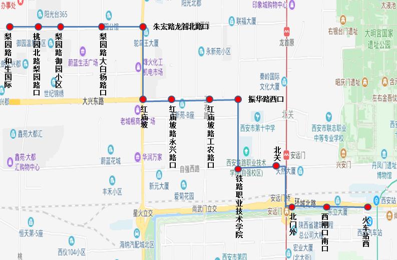 西安9月3日将新开138路调整151路公交