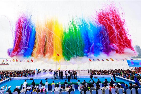2019陕西·汉中国际摩托艇公开赛鸣枪开赛