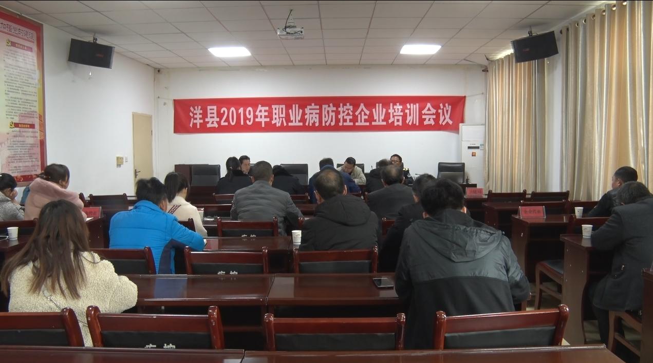 洋县召开职业病防控培训会
