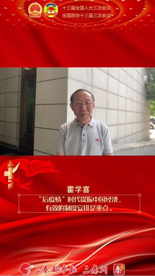 """霍学喜:""""后疫情""""时代提振中国经济,有效的制度安排是重点"""
