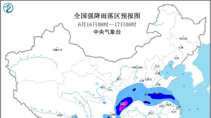 暴雨黃色預警:陜西四川等地部分地區有大暴雨