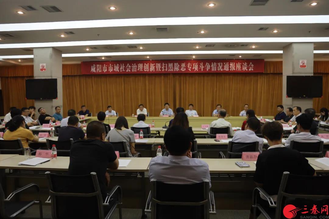 咸阳市域社会治理创新暨扫黑除恶专项斗争情况通报座谈会召开