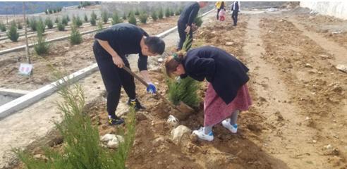 农发行镇巴县支行开展义务植树活动助力乡村绿化