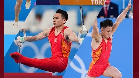 中国男子体操队夺得体操男子团体铜牌
