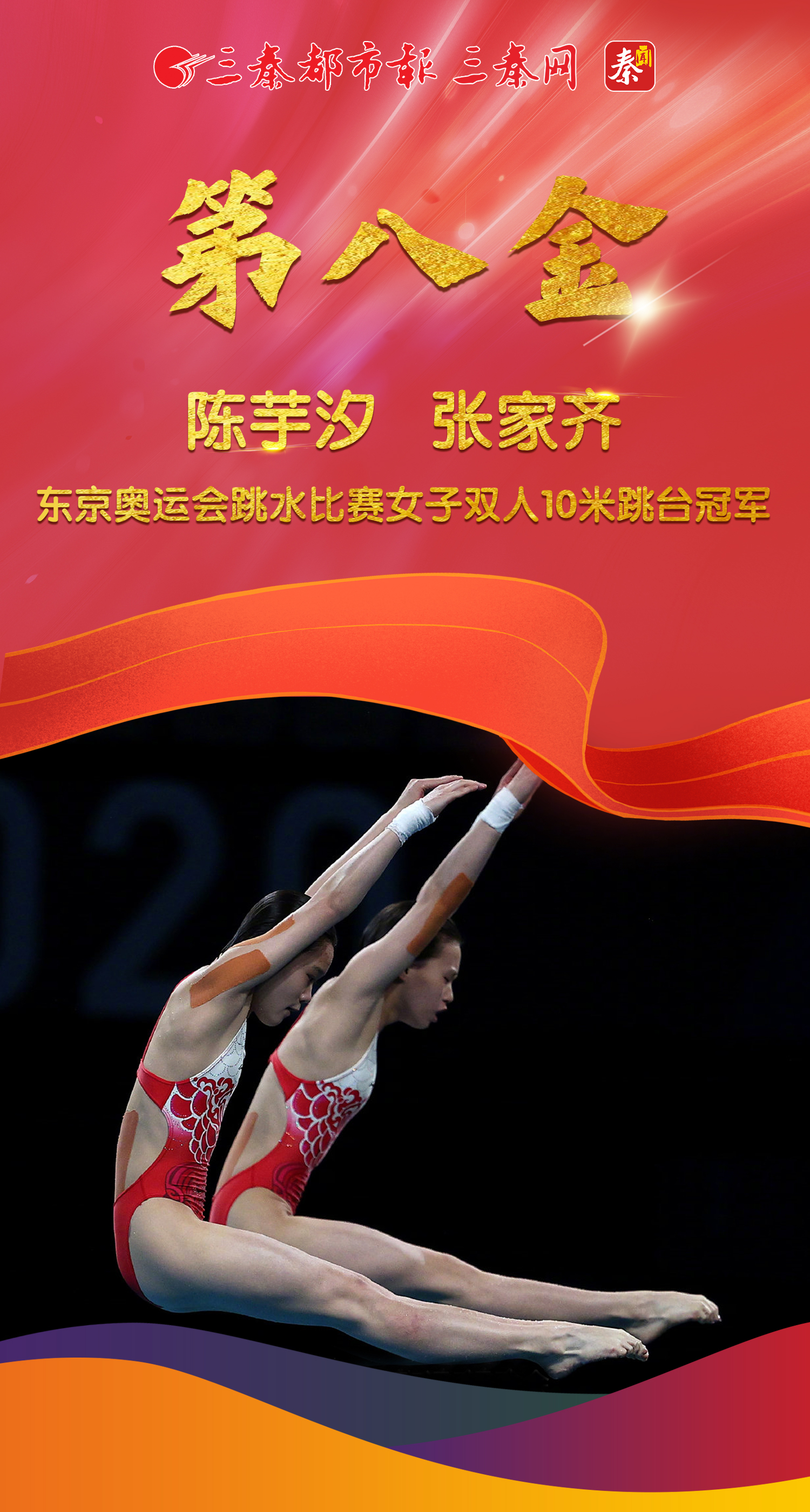 第八金!中国组合陈芋汐/张家齐获得东京奥运会女子双人10米台金牌