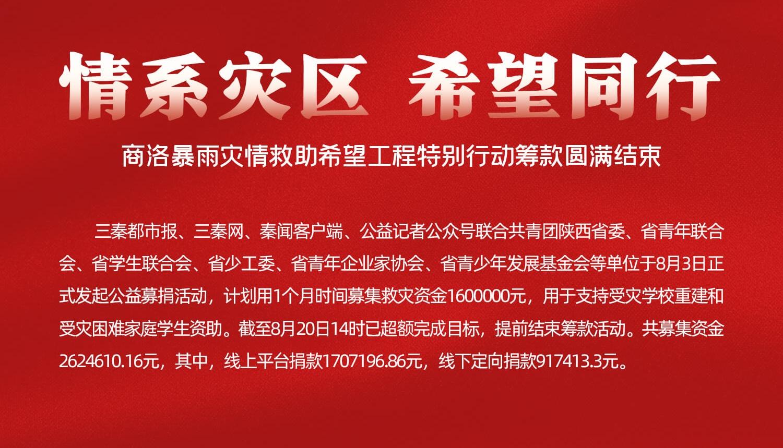公示|陕西省青少年发展基金会接受社会捐赠明细