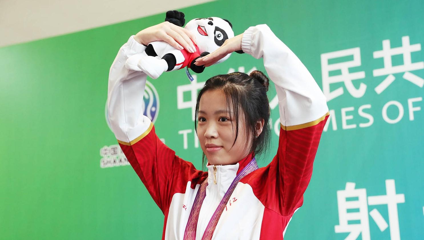 女子10米气步枪团体赛 浙江队夺冠
