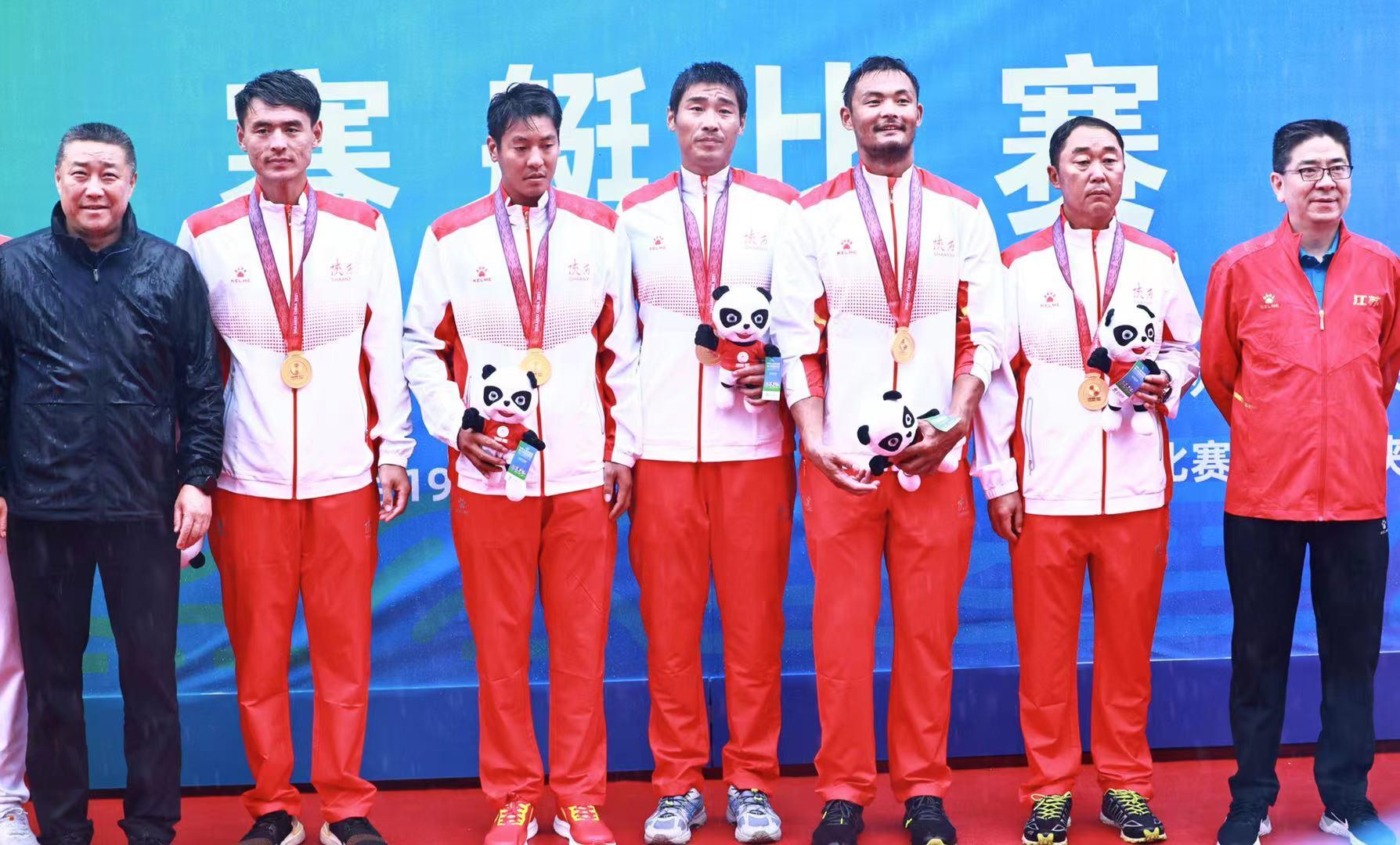 奥运冠军联合队卫冕赛艇金牌 陕西选手获一金一铜