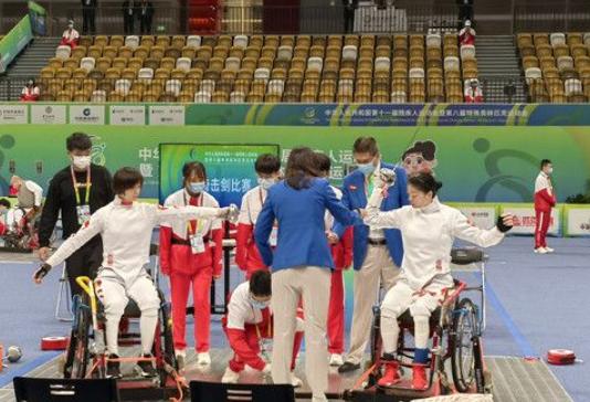 残特奥会轮椅击剑开赛 陕西队选手肖蓉获银牌