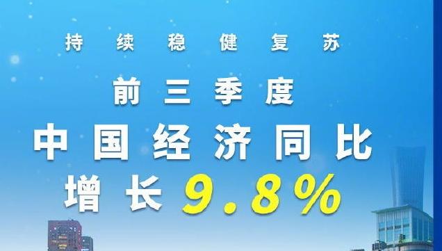 国家统计局:前三季度中国经济同比增长9.8%
